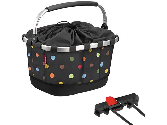 KlickFix Reisenthel Carrybag GT Bike Basket for Racktime, dots
